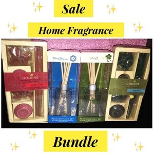 Home Fragrance Insence Kit + Reed Oil Diffuser Set
